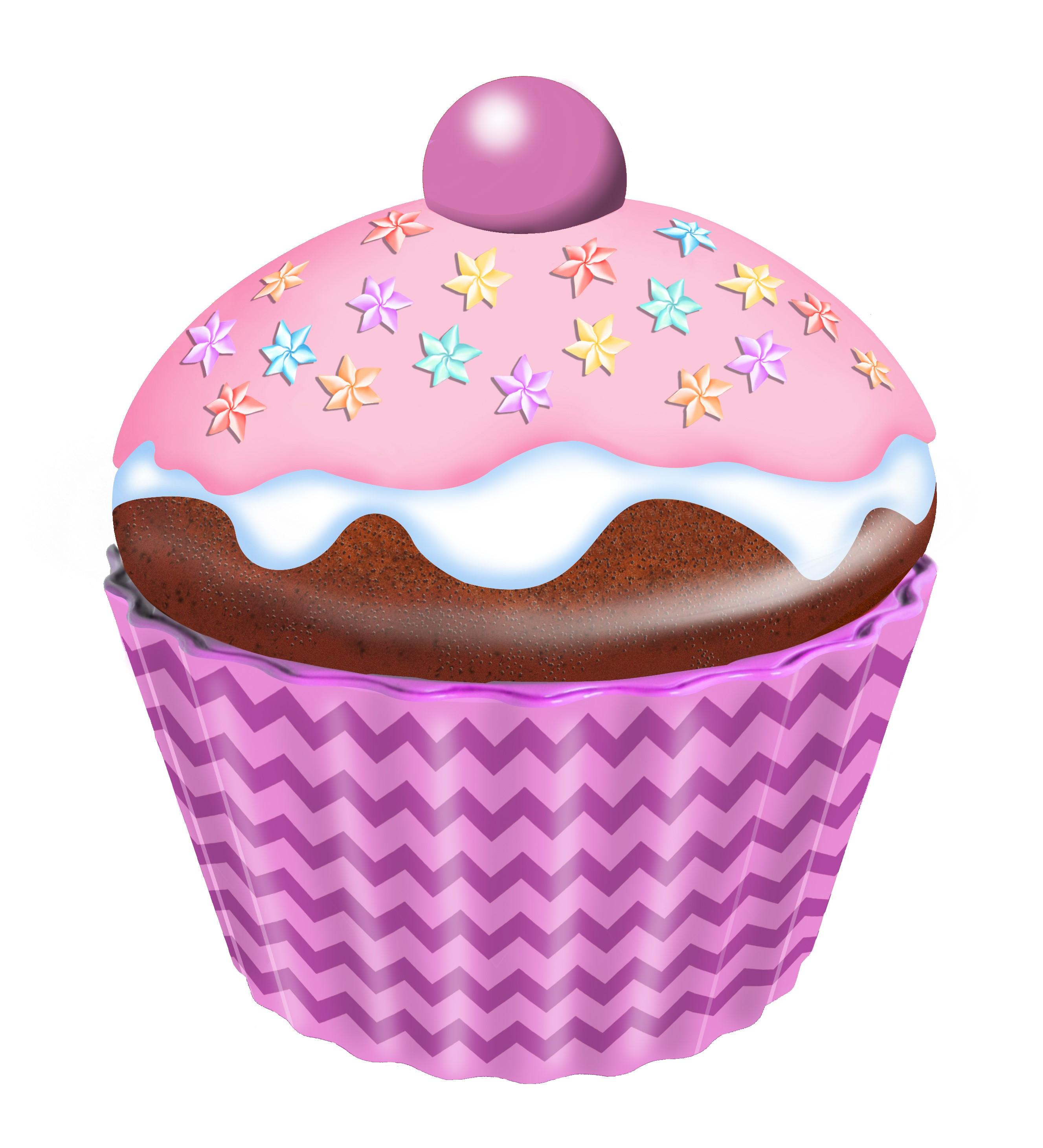 10203 Cupcake grande con fiori