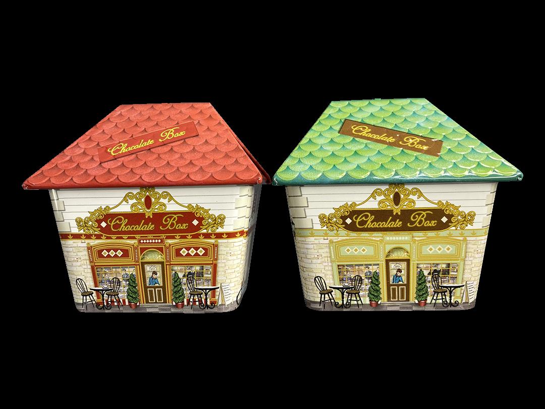 10650 Casetta Chocolate Box rossa e verde